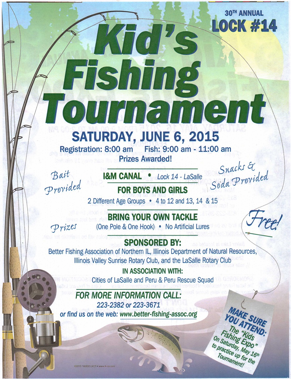 kid 39 s fishing tournament flyer